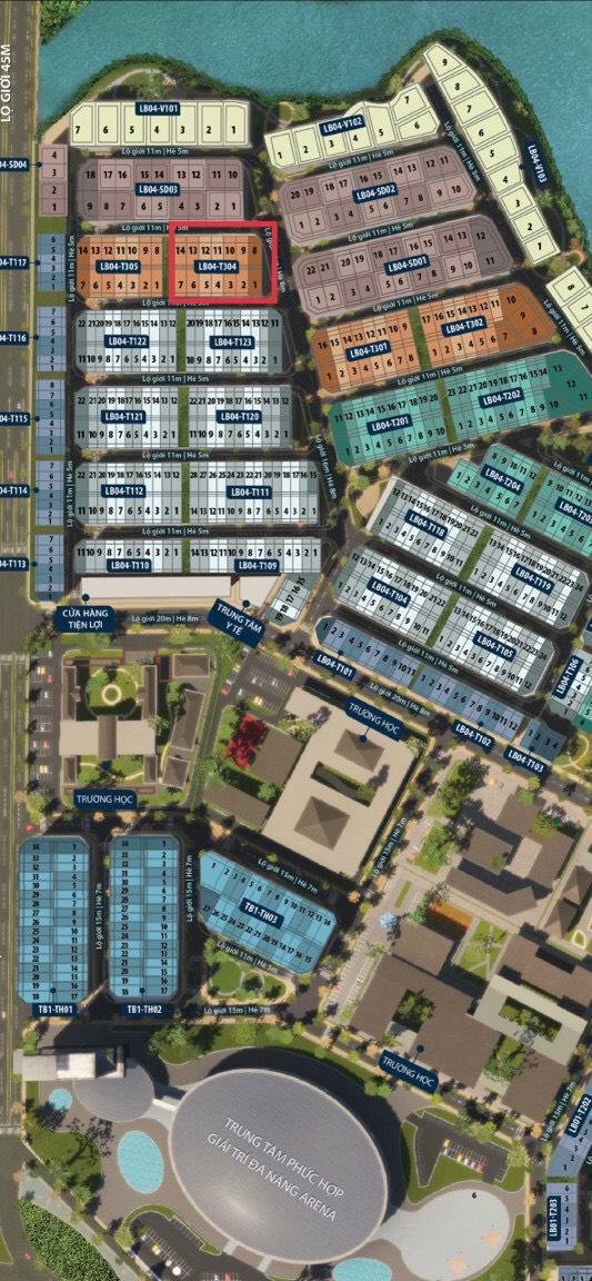 Bán nhà biệt thự, liền kề tại Dự án Aqua City, Biên Hòa, Đồng Nai diện tích 156m2 giá 78 Tỷ