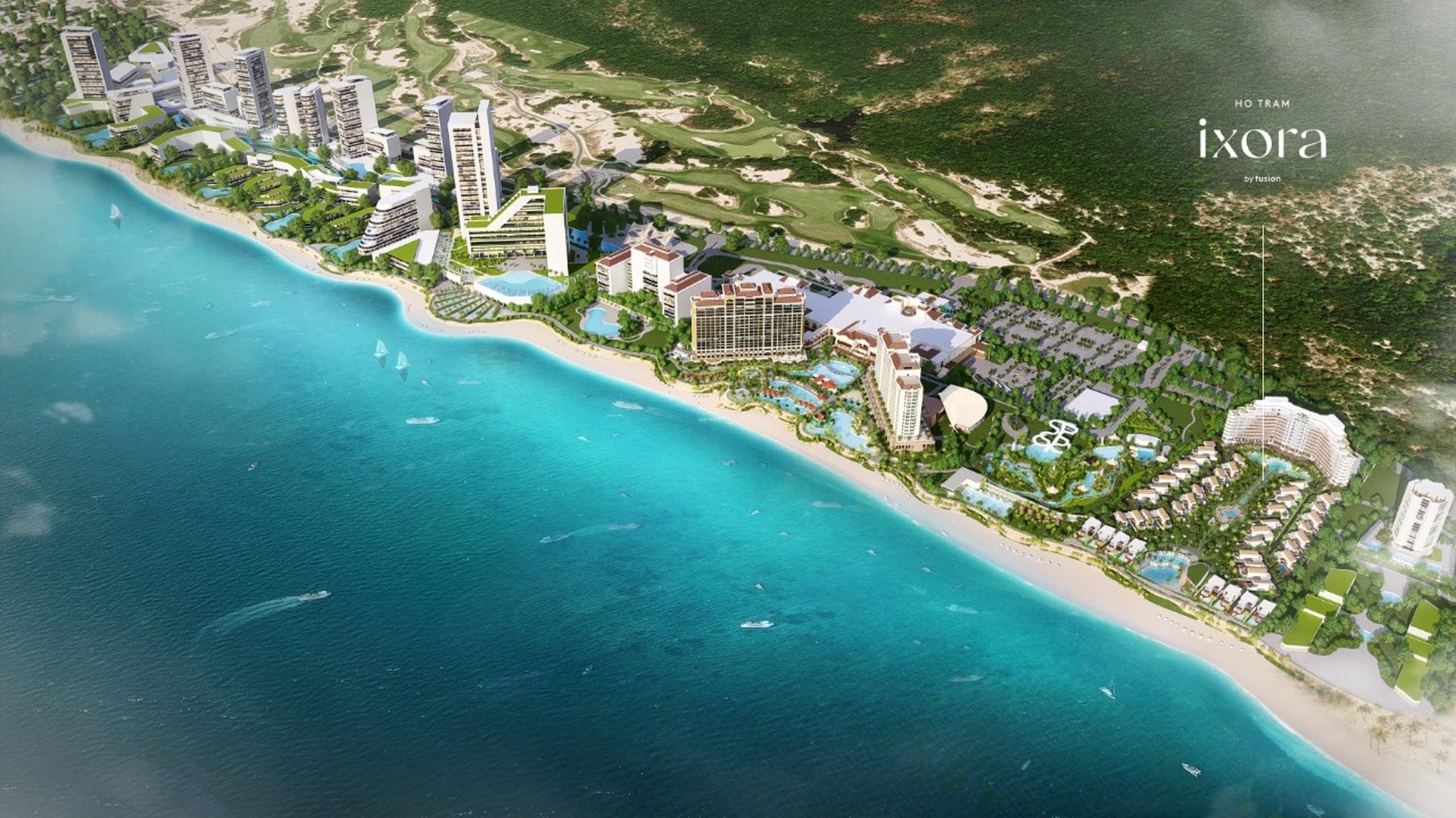 Bán biệt thự biển IXORA HỒ TRÀM BY FUSION cạnh Casino Hồ Tràm Strip ra mắt tháng 3 PKD 0912357447