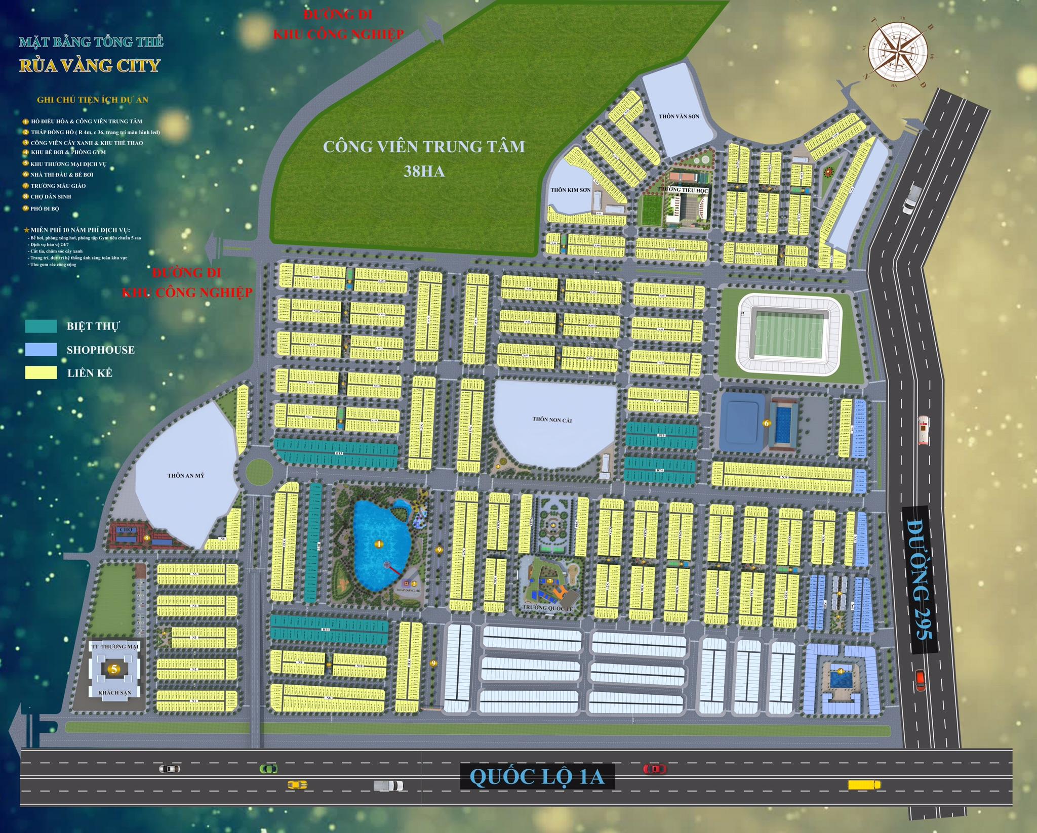 Bán xuất ngoại giao giá từ 1,2tỷ dự án phía Tây thị trấn vôi-rùa vàng city