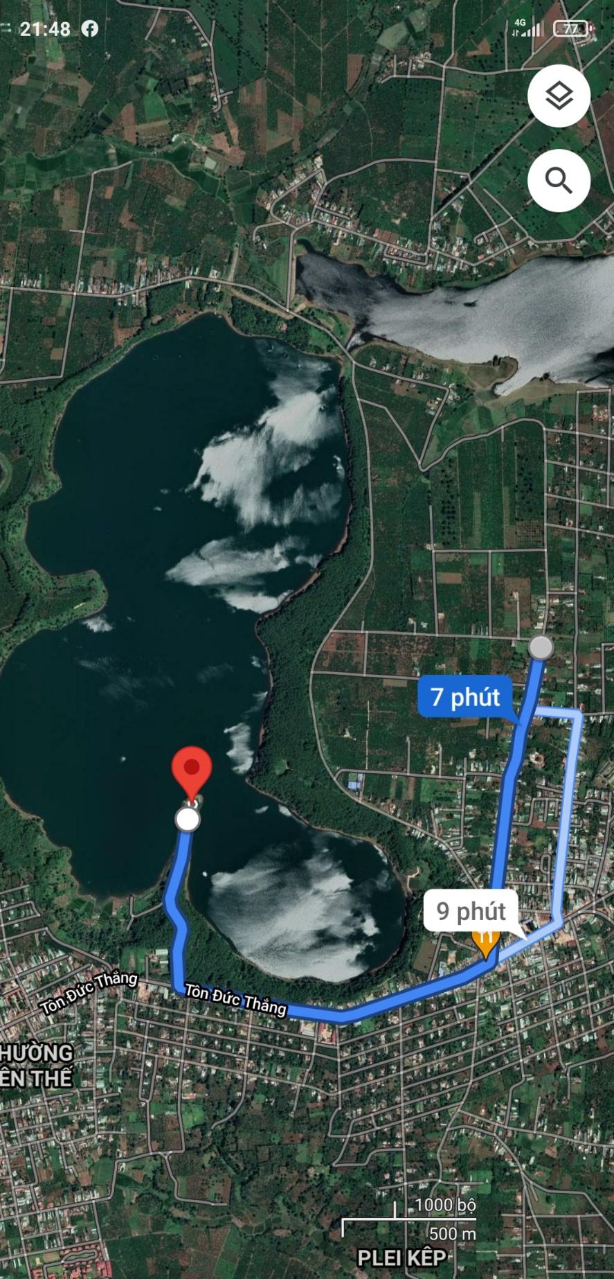 Bán đất 1500m2 khu du lịch sinh thái Biển Hồ, TP Pleiku, Gia Lai