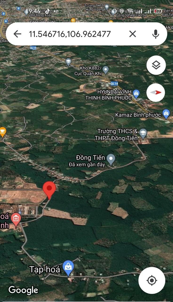 Đất sào Đồng Tiến Đồng Phú cần ra đường thông Sổ Sẵn, gần UBNN chỉ 5××tr/sào