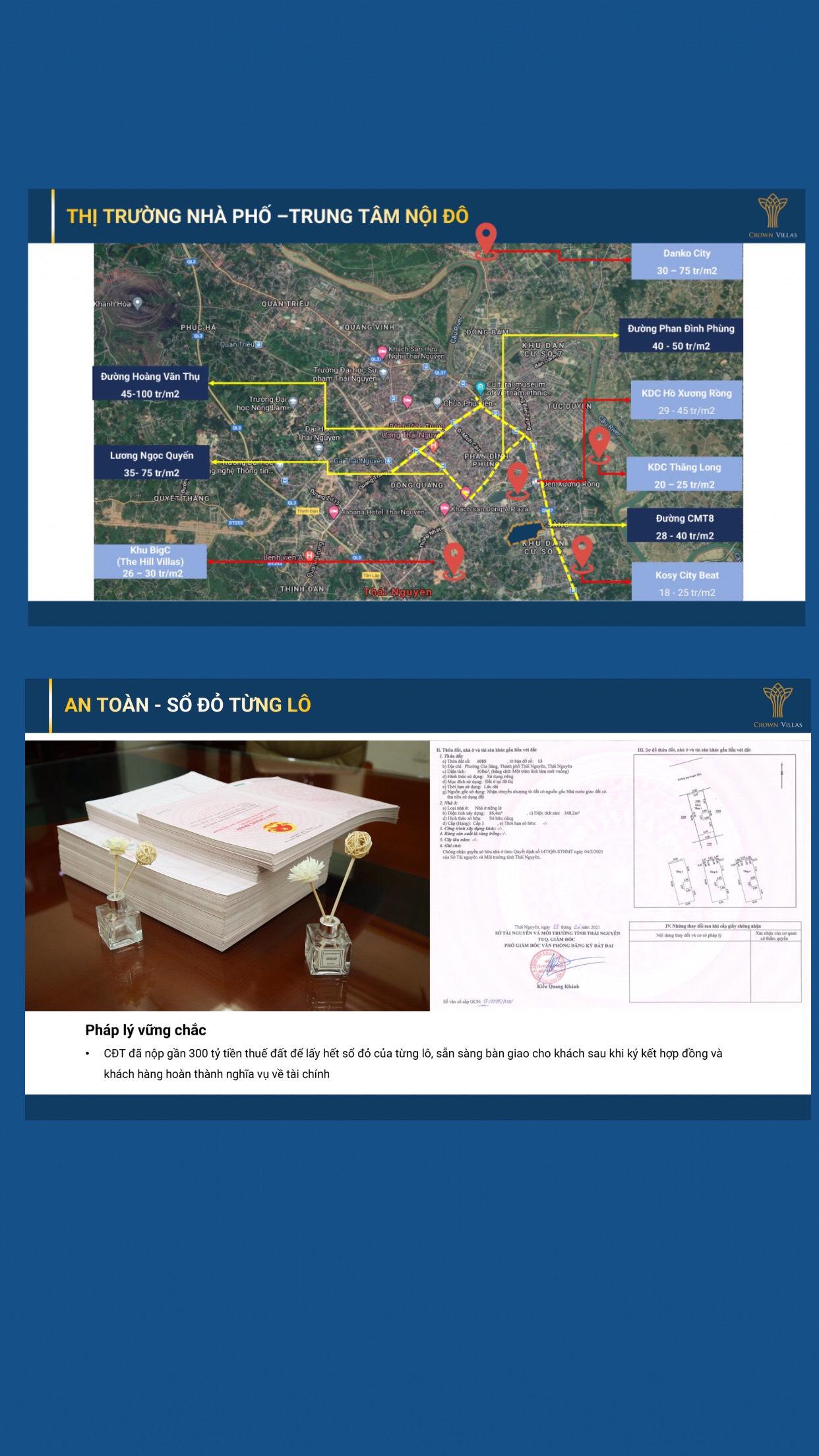 Mua ngay Crown Villas Thái Hưng - Dự án đẳng cấp bậc nhất Thái Nguyên