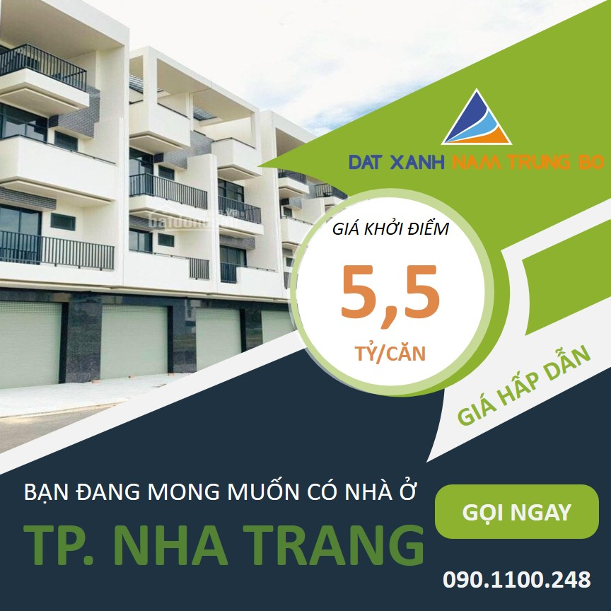 Shophouse VCN Nha Thương – Nhà phố thương mại đầu tiên tại TP Nha Trang giá 5,5 Tỷ/Căn