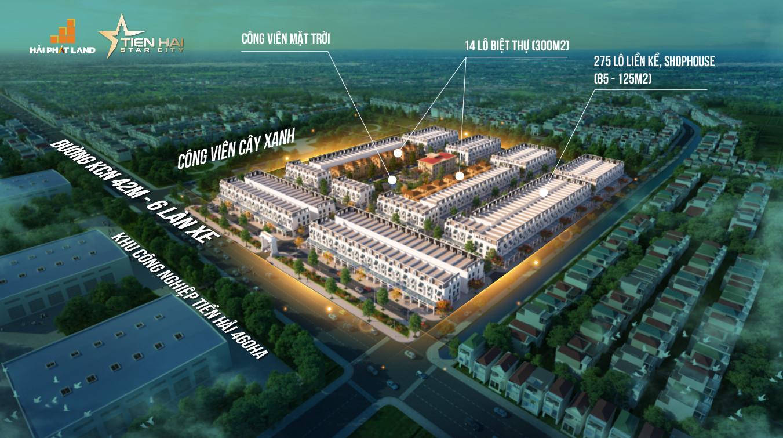 Mở bán đợt 1 dự án Tiền Hải Star City 15 tr/m trong khu công nghiệp, đã có sổ, xong hạ tầng, CK 4%