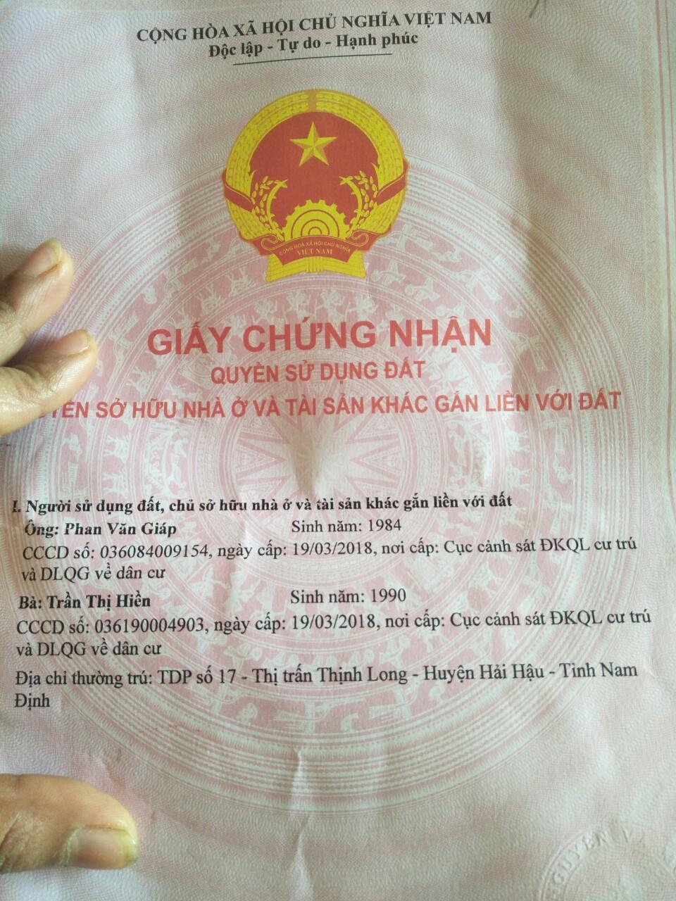 Cần bán Đất đường Phố Mới, Thị trấn Thịnh Long, Diện tích 95m², Giá 750.000.000 Triệu - LH: 0985094661