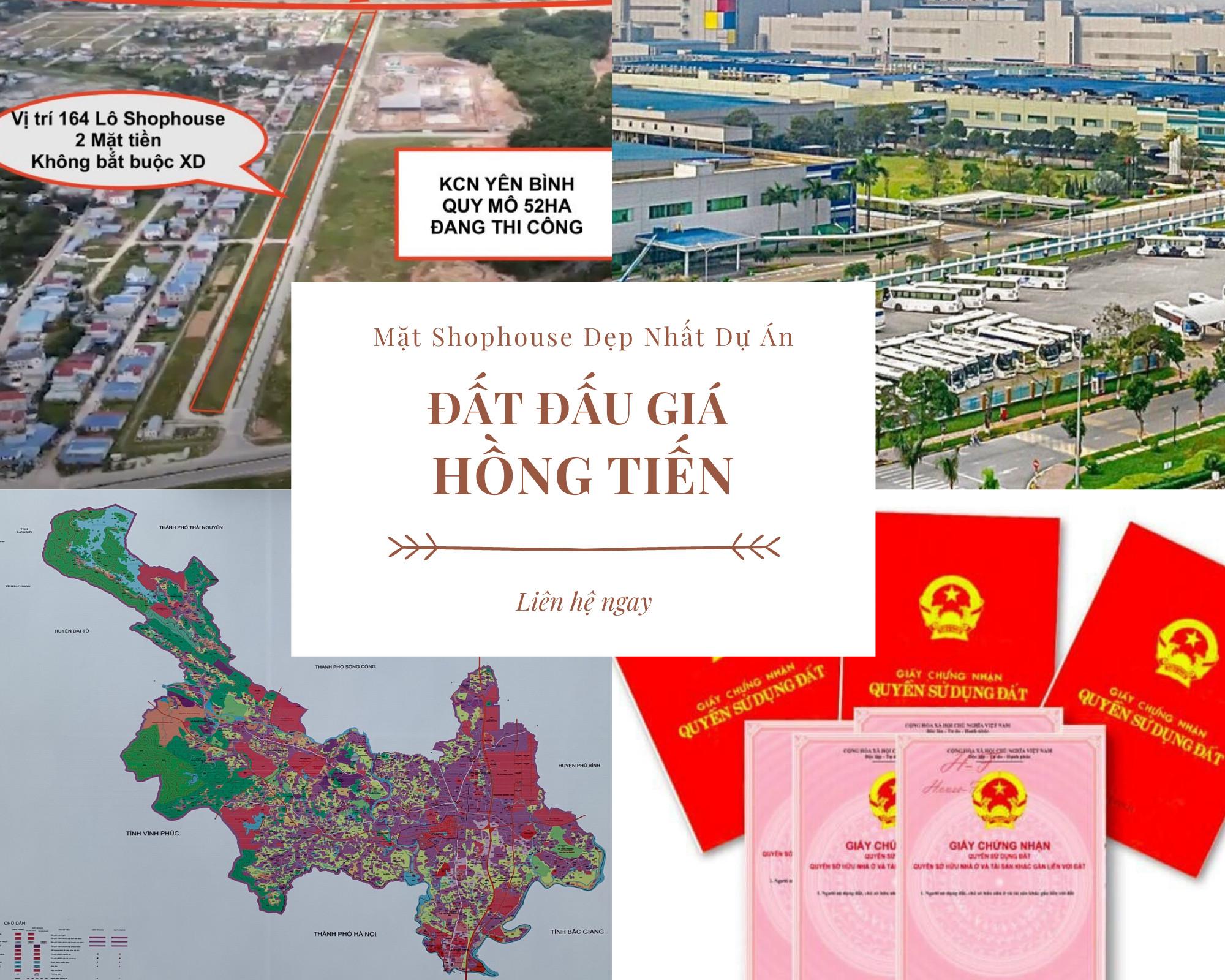 Cần bán Đất Xã Hồng Tiến, Phổ Yên, Diện tích 108m², Giá Thương lượng - LH: 0916871030