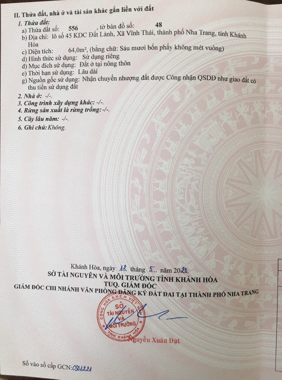 Cần bán Nhà mặt tiền đường Phong Châu, Xã Vĩnh Thái, Diện tích 64m², Giá 1.3 Tỷ