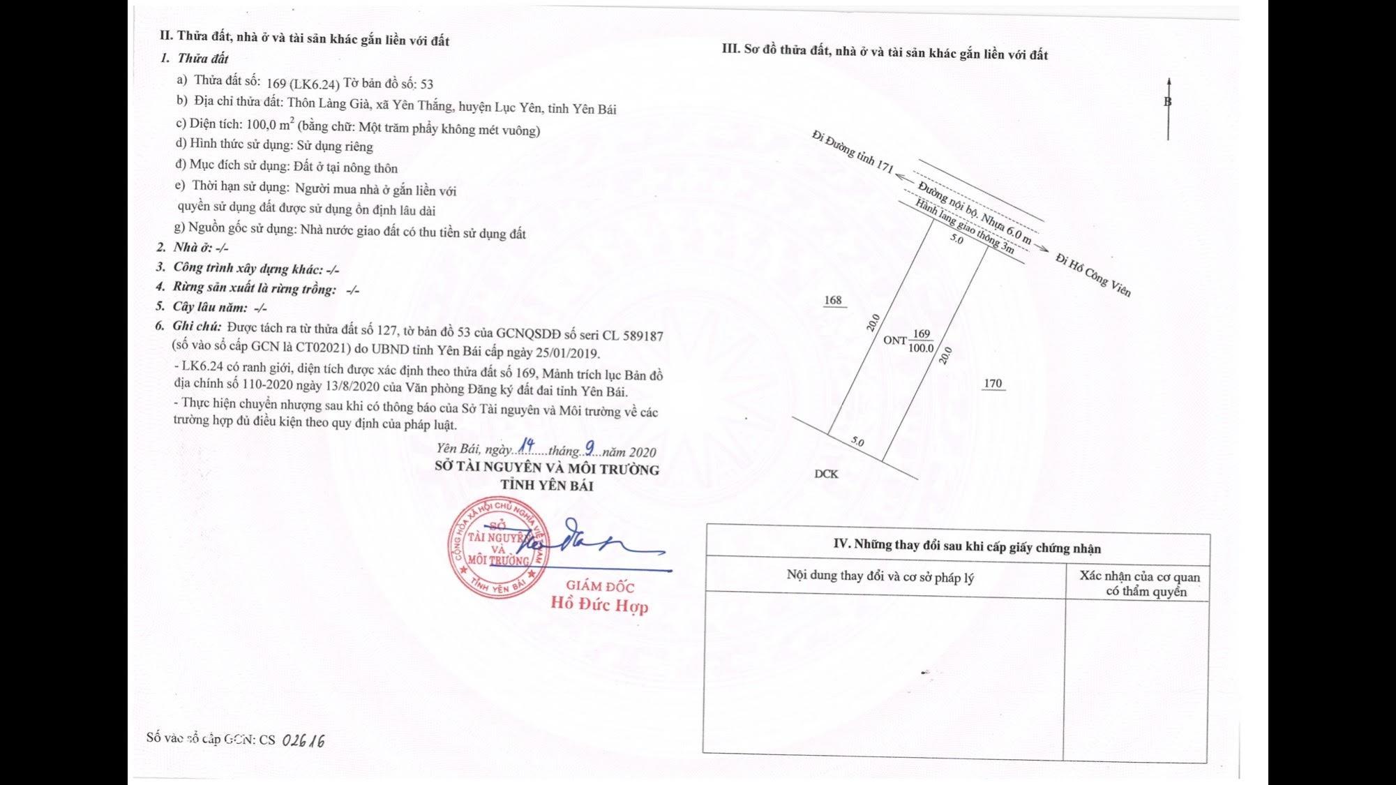 Bán 100m2 đất nền VỊ TRÍ ĐẸP dự án TNR Starscity - Lục Yên - Yên Bái