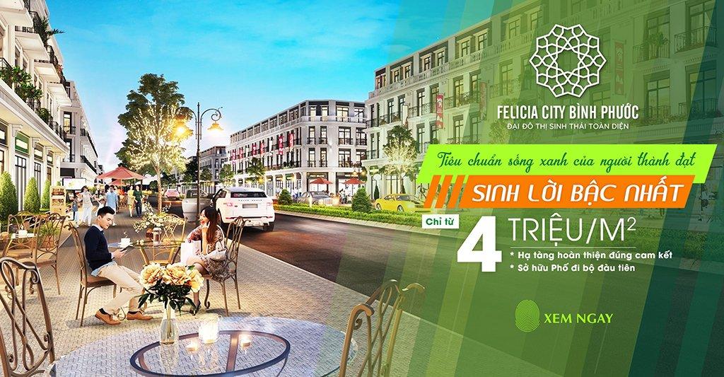 Cần bán Đất nền dự án Felicia City Bình Phước , thanh khoản nhanh, giá tốt, vị trí đẹp