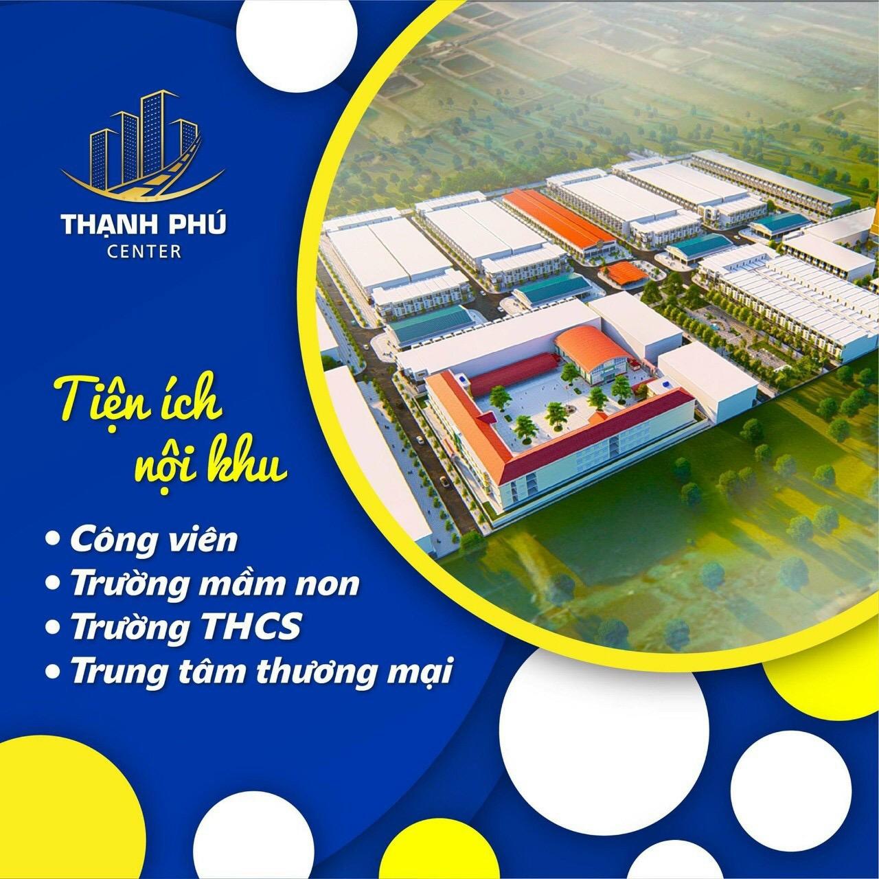 Mua đất nền phố chợ vừa ở vừa kinh doanh ngay trung tâm Thạnh Phú