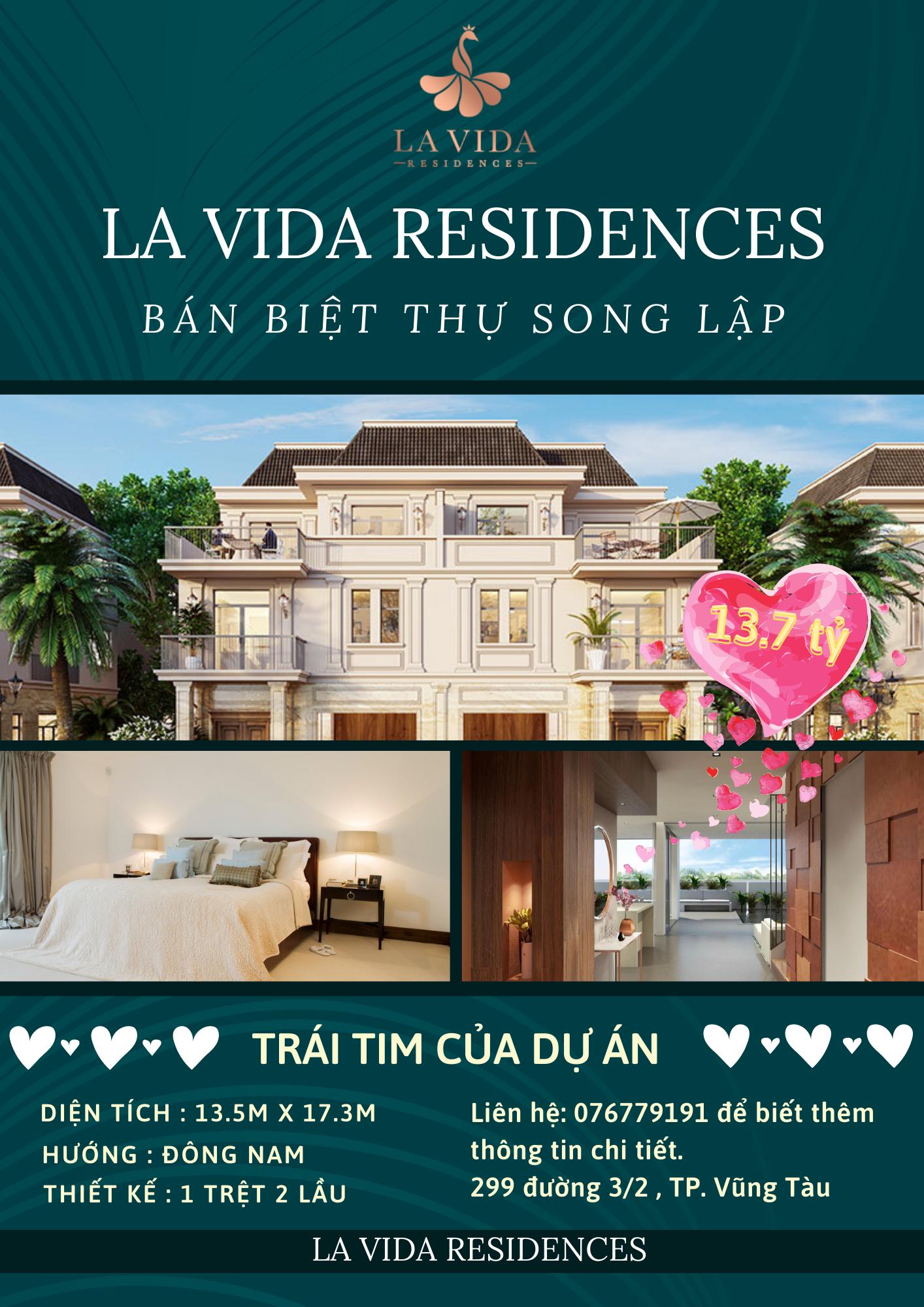 Cần bán Biệt thự dự án La Vida Residences, Diện tích 225m², Giá 13.7 Tỷ