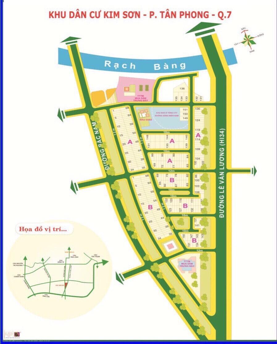 Đất bán 2 mặt tiền khu Kim Sơn, ngay Lotte Q7 Giá rẻ: 153 tỷ