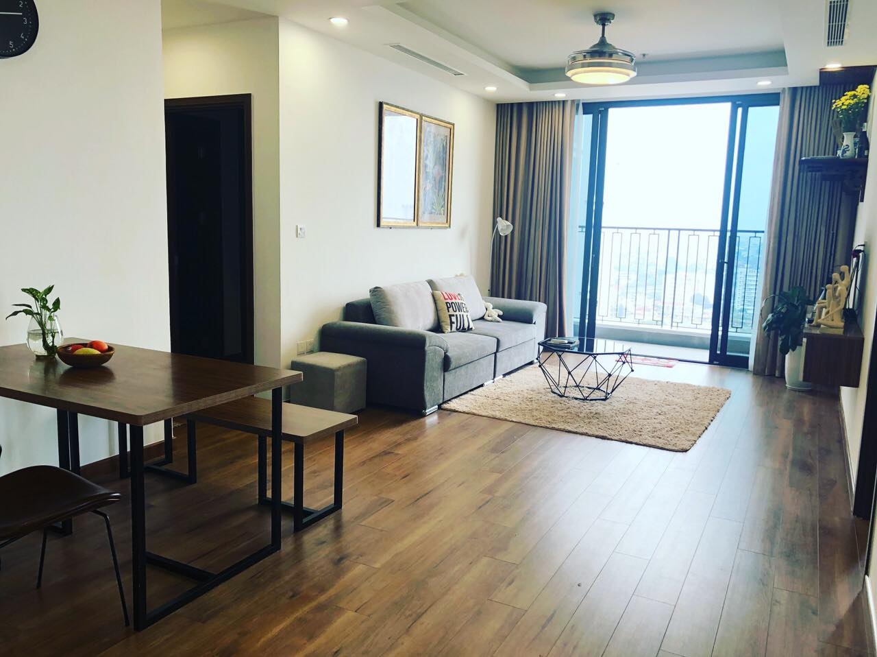 Cho thuê căn góc 3PN chung cư Hinode City Minh Khai full đồ view cực đẹp