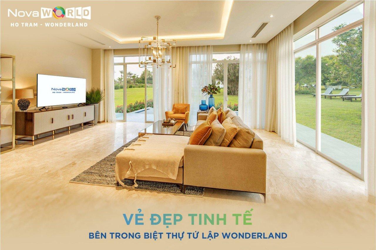 Bán biệt thự biển Wonderland Hồ Tràm có lợi nhuận 600 triệu/năm giá 12 tỷ/căn full nội thất Lh 0912357447